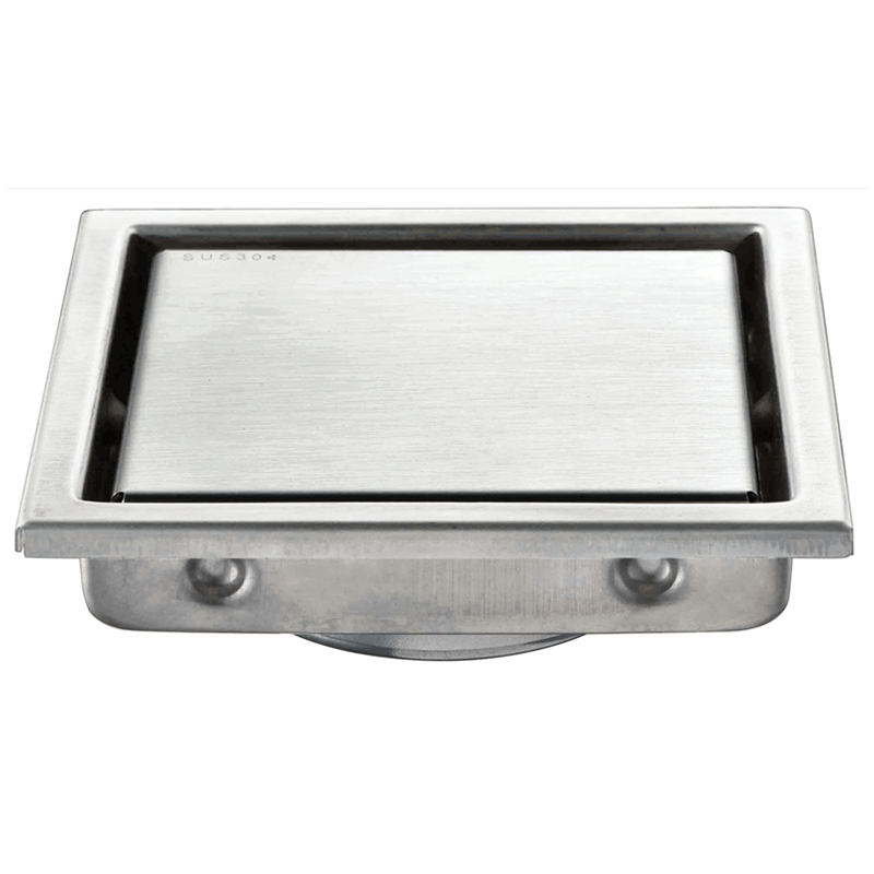 High Quality New Arrival Tile Insert Square Floor Waste Grates Bathroom Shower Drain 304 Stainless Steel Floor Drains