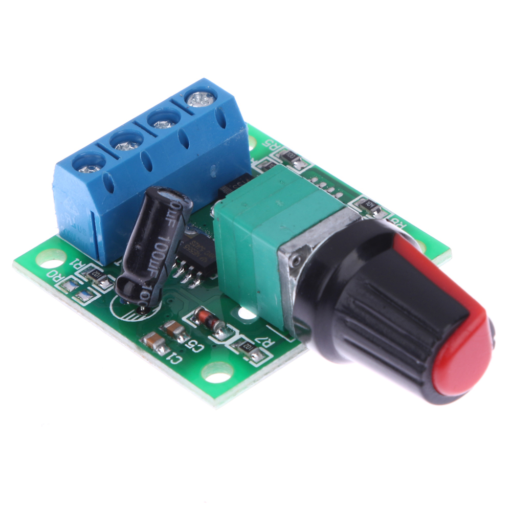 PWM Mini Low Voltage DC Motor Speed Controller Self-recovery Speed Control Switch 1.8V 3V 5V 6V 12V 2A 30W