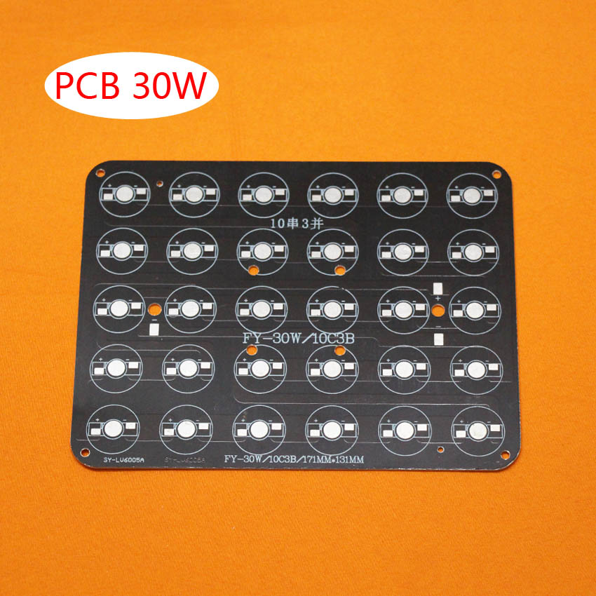 10pcs/lot, 30W LED PCB , high power LED Rectangular aluminum plate base , apply to buried lights, cast light, fill light and so