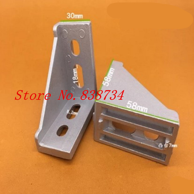 10pcs 3060 corner fitting angle aluminum 30 x 60 connector bracket fastener match 3030 industrial aluminum profile