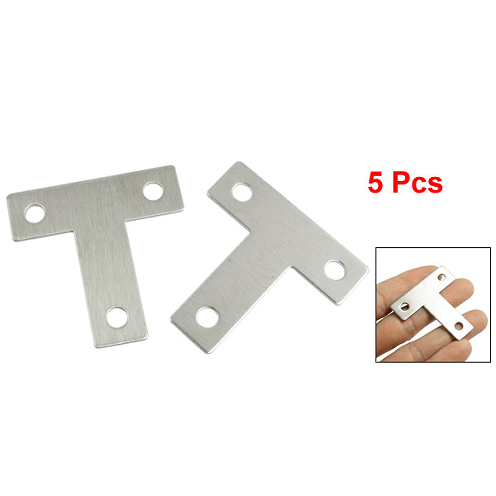 5 Pcs Angle Plate Corner Brace Flat T Shape Repair Bracket 40mm x 40mm