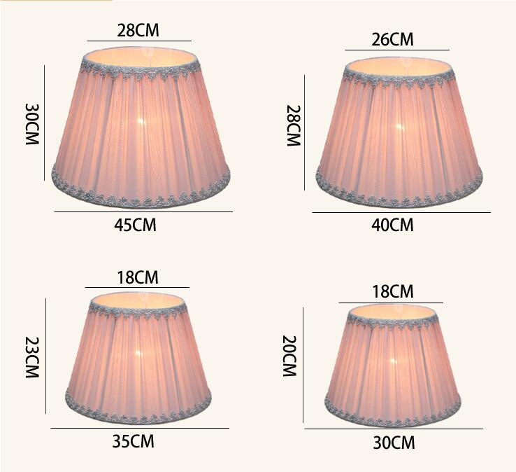 20 pcs E27 handmade classic decorative lamp shade table lamp pleated cloth  Rustic Country retro ring lampshade ,customlize