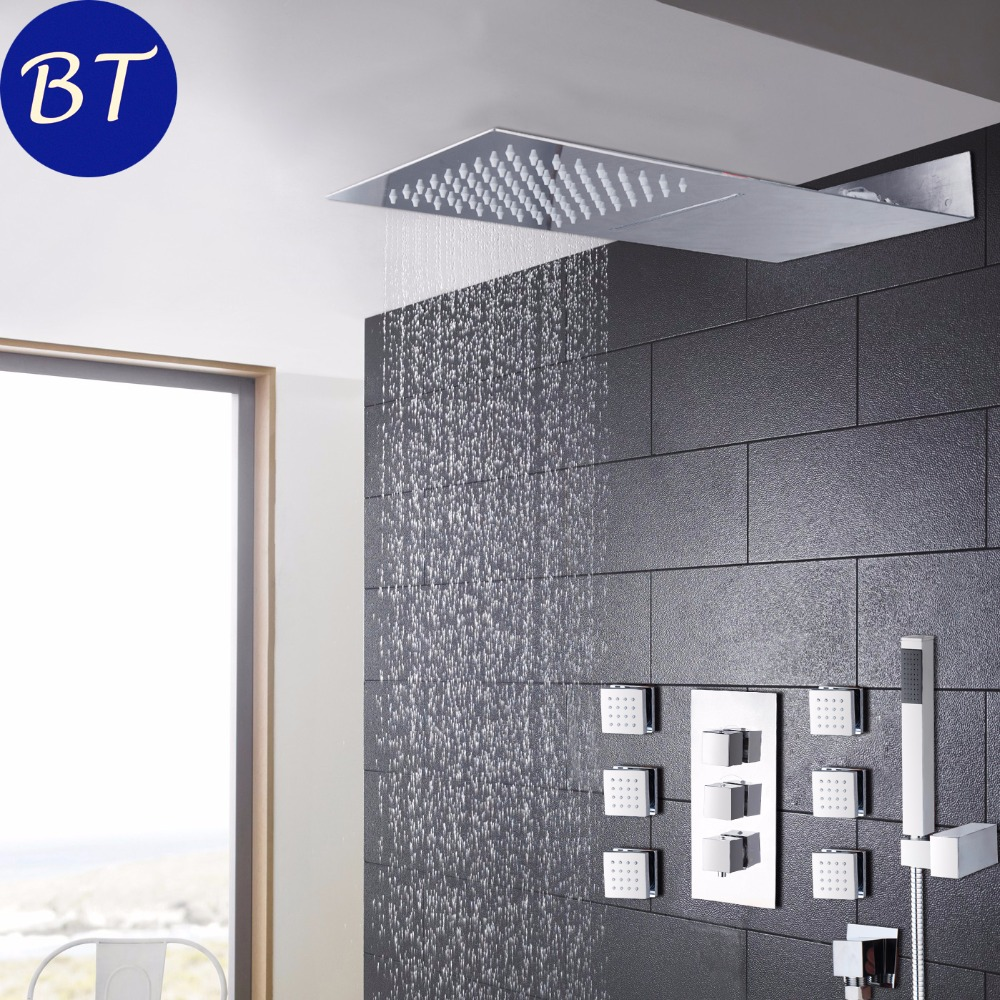 Bathroom Shower Set Chrome Wall Mounted Shower Faucet Water Saving - Water-saving-set-for-the-bathroom