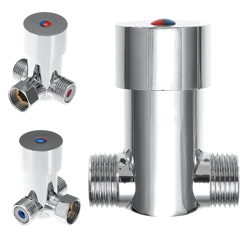 Bathroom Hot Cold Water Valver Temperature Control Thermostatic Mixer Mixing Valve Sensor Tap for Shower Head Faucet Taps