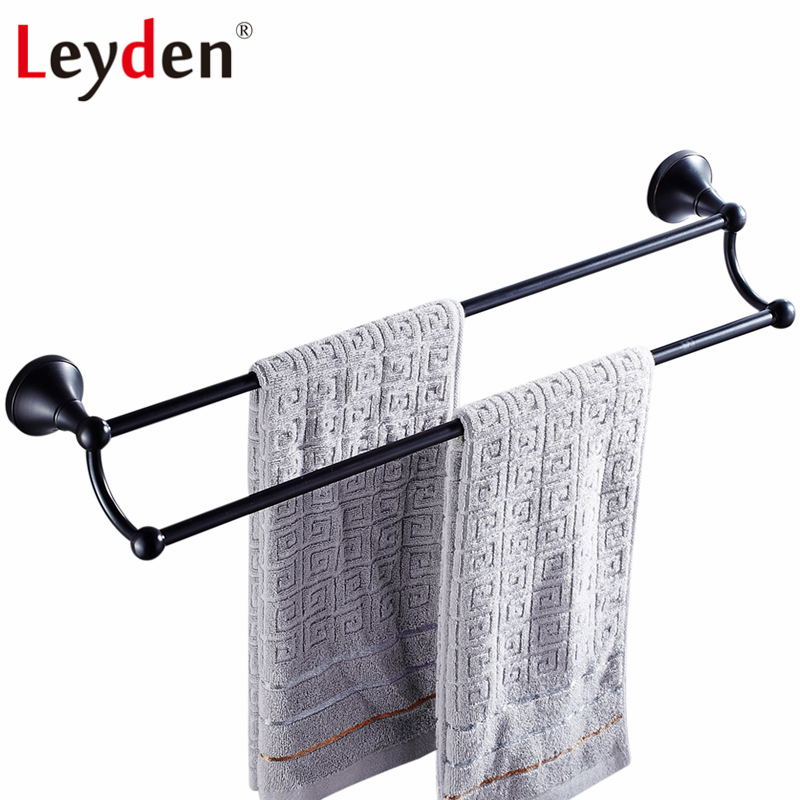 Leyden ORB/ Antique Brass/ Golden/ Chrome Double Towel Bar Toilet Towel Bar Towel Rack Holder Wall Mounted Bathroom Accessories