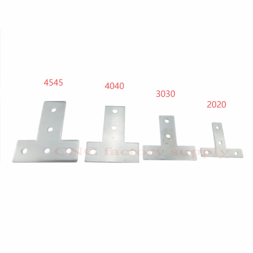 2020 L type T type cross plate joint aluminum connector EU standard 20/30/40 series industrial Aluminum Profile Accessories 3D