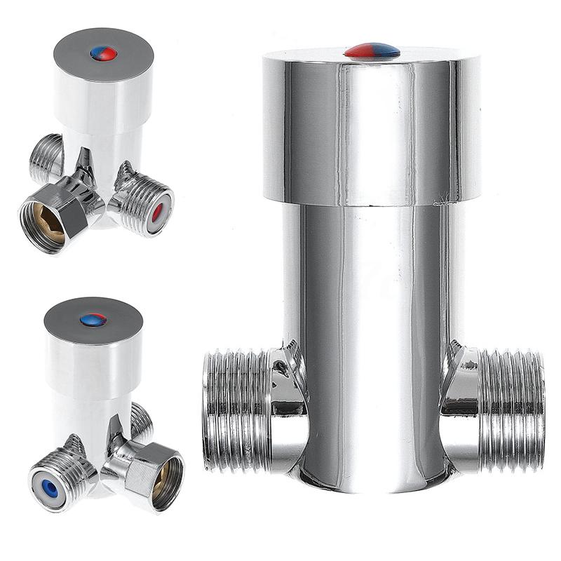 Hot Cold Water Valve Faucet Temperature Control Thermostatic Mixer Mixing Valve Sensor Tap for Bathroom Shower Head Faucet Tap