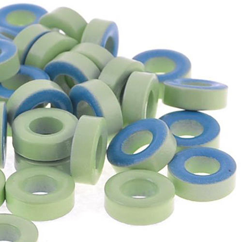 LIXF 50Pcs Pale Green Blue Iron Core Power Inductor Ferrite Rings AT44-52