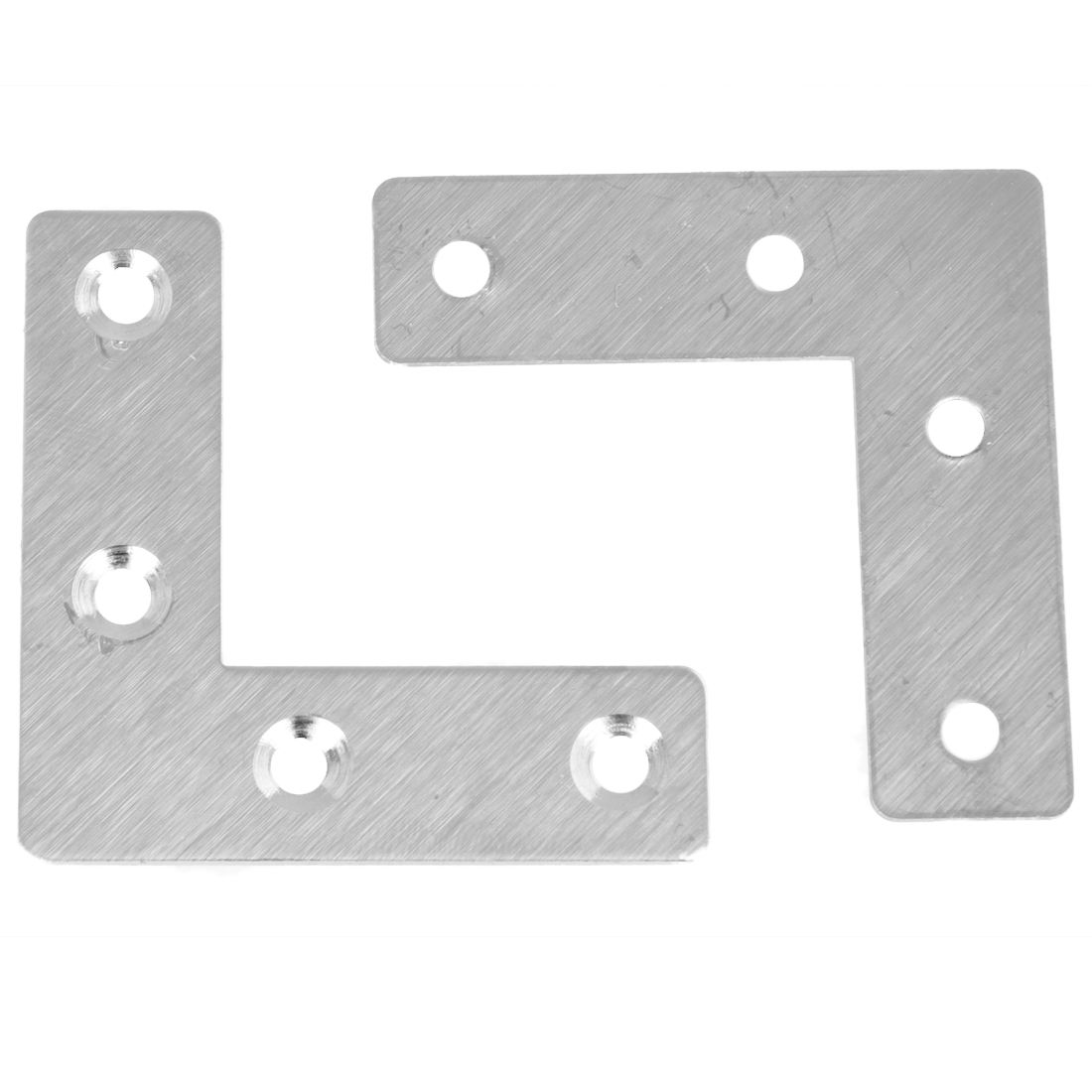 50 x 50mm Right Angle Plate Metal Corner Brackets Silver Tone x 5