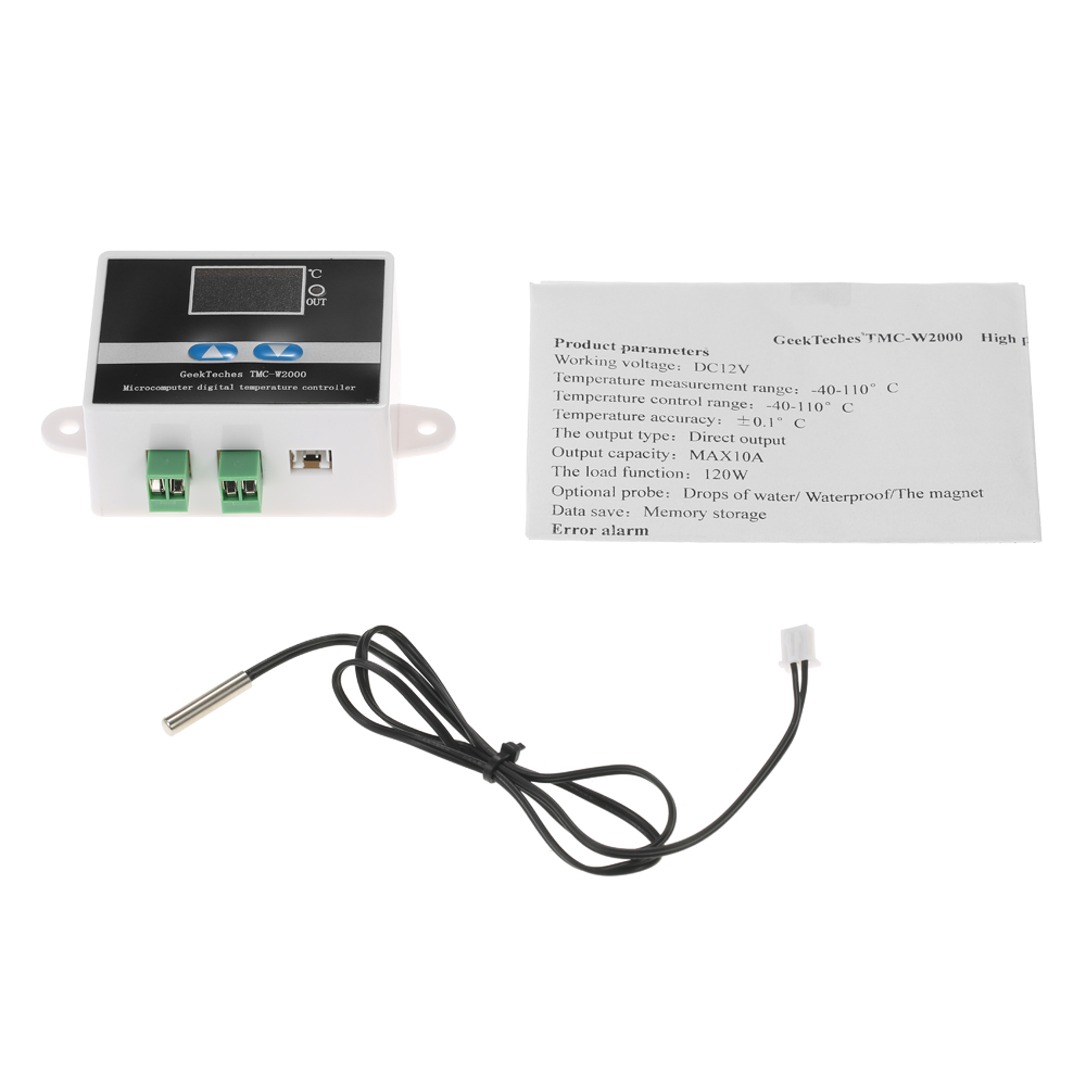 TMC-W2000 AC110-220V 1500W Thermoregulator LCD Digital thermometer Temperature Controller Thermostat + Waterproof Sensor Probe