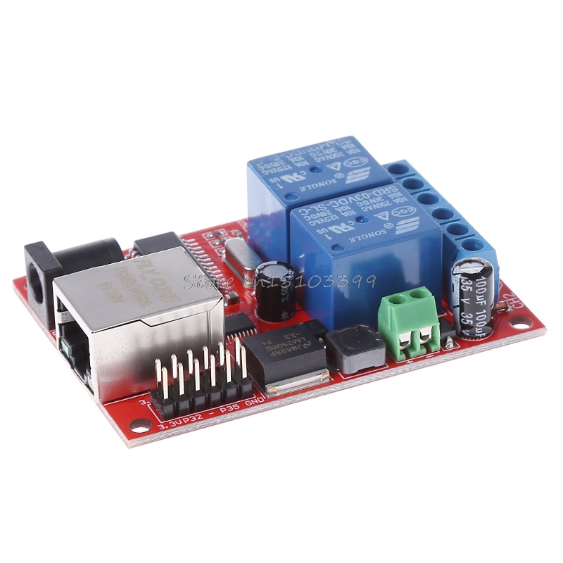 LAN Ethernet 2 Way Relay Board Delay Switch TCP/UDP Controller Module WEB Server #G205M# Drop shipping