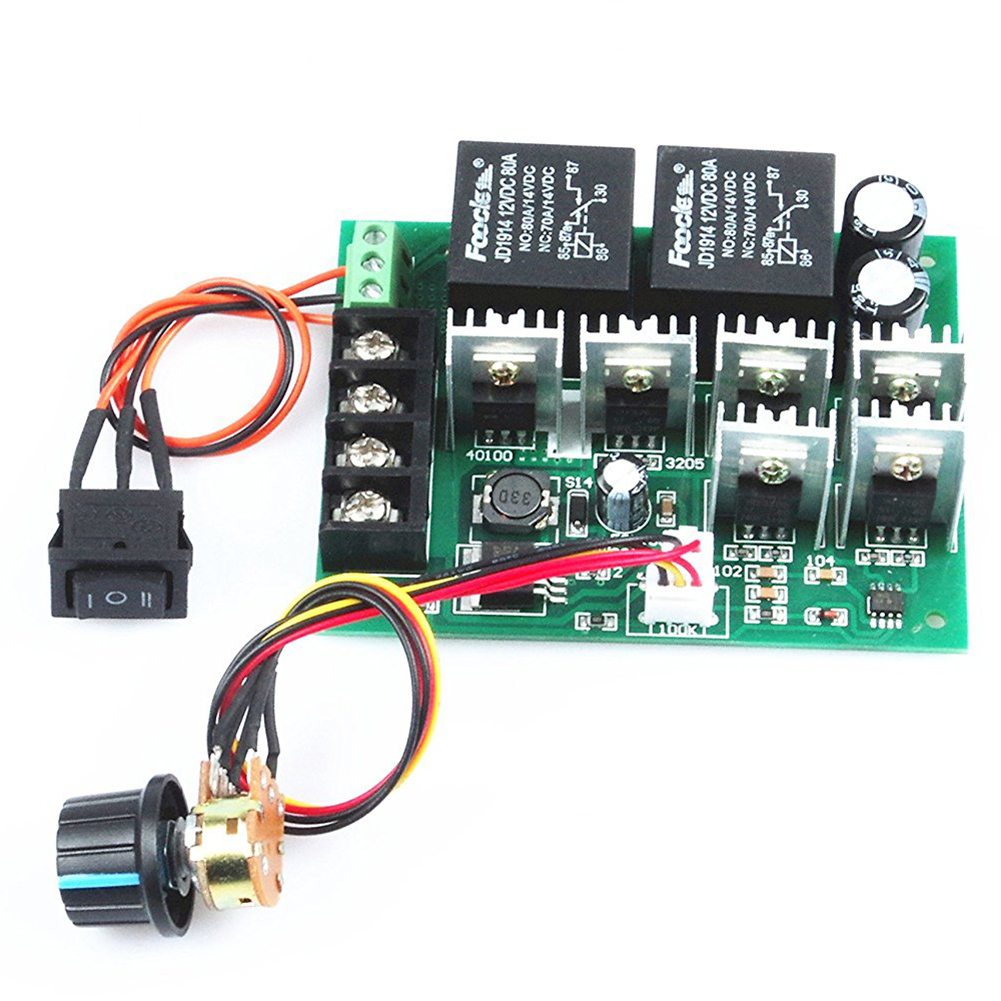 speed PWM electronic 40A DC 12V/24V/36V/48V Brushed motor controller Maximum Power of 2000W Third gear forward/reverse/stop