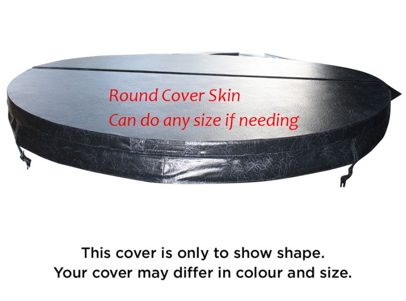 Round hot tub cover leather Diameter 2200mm 10cm thickness can do any other size