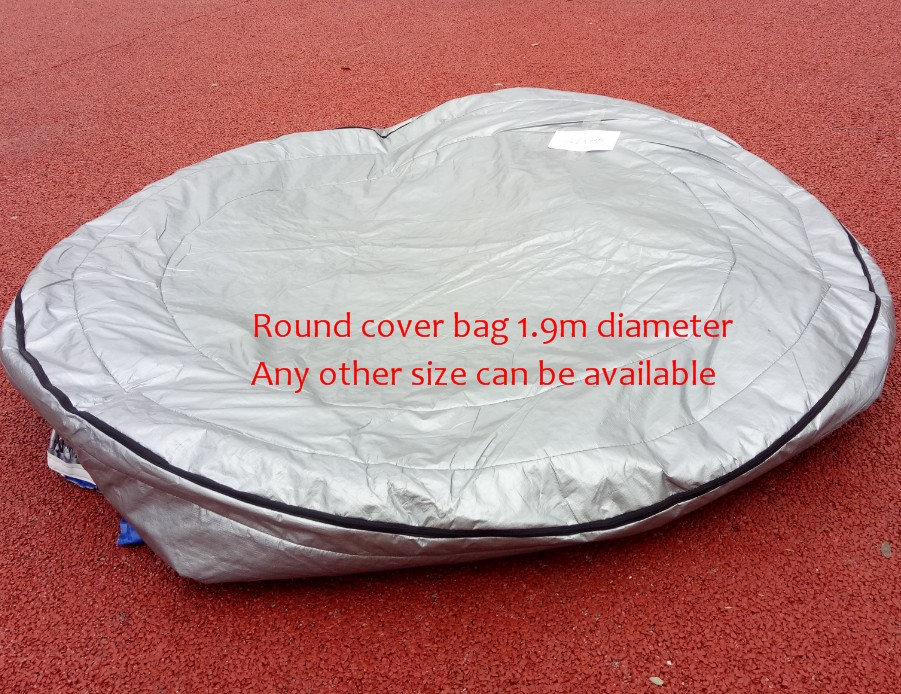 ROUND hot tub spa cover UV insulated Cover bag  diameter 190cm x 90cm high Other Size can be available