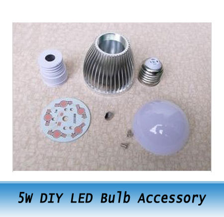 5W high power LED Bulb Accessory / DIY LED Lamp CASE Parts kit E27 10pcs