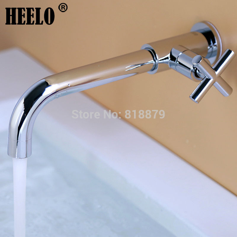 1/2 Longer brass tap bathroom lavatory single cold water tap outdoor garden wall tap bibcocks