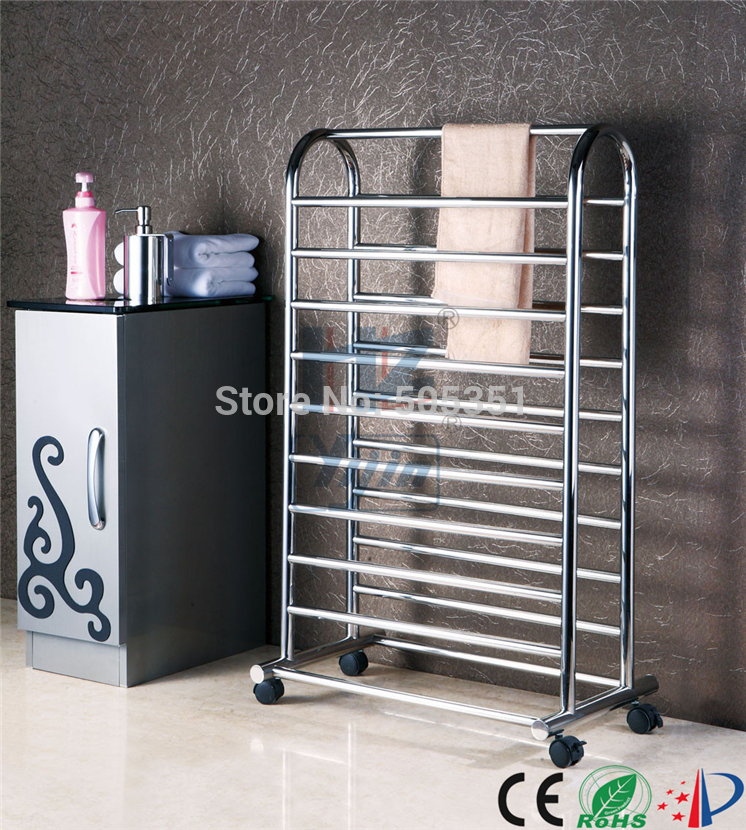 free standing  towel rack electric towel heater stainless steel moveable  towel rail heaters towel warmer HZ-930