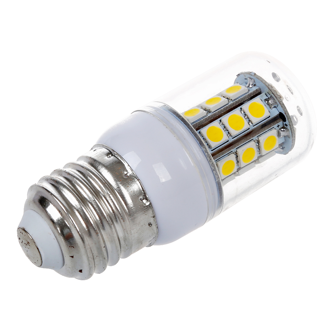 Practical 4 X E27 bulb Spot lamp 5050 SMD 27 LED Warm White 3600K 300LM