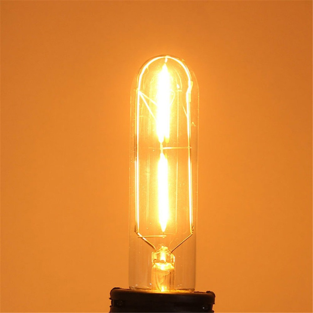 Edison Bulb Retro Lamp T10 AC 220V 2W Vintage COB LED Filament Energy Saving Lamp For Decor Home Lighting