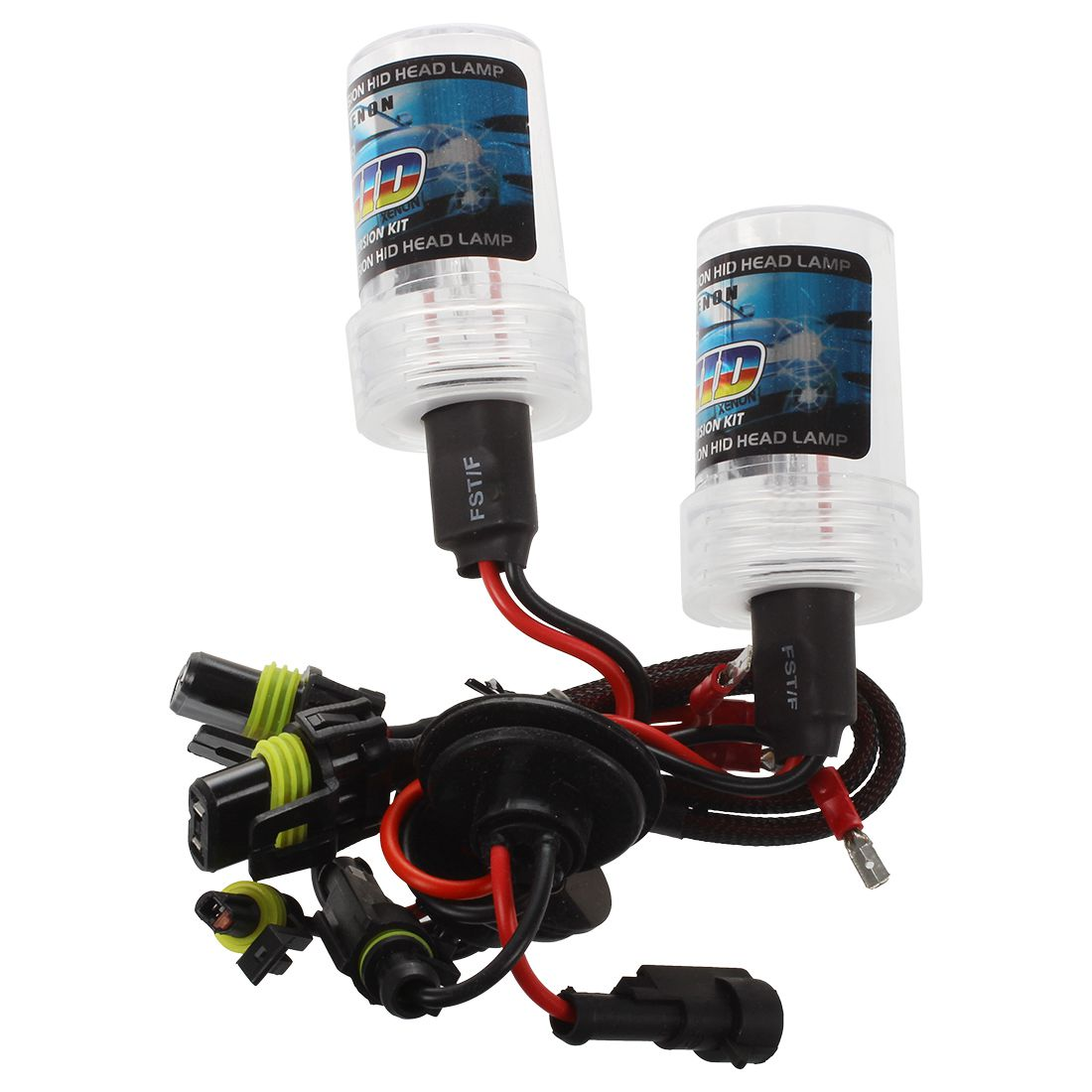 2 Stk.55W HID xenon lamp car bulb light lamp kit Headlight 12V DC (H1 4300K)
