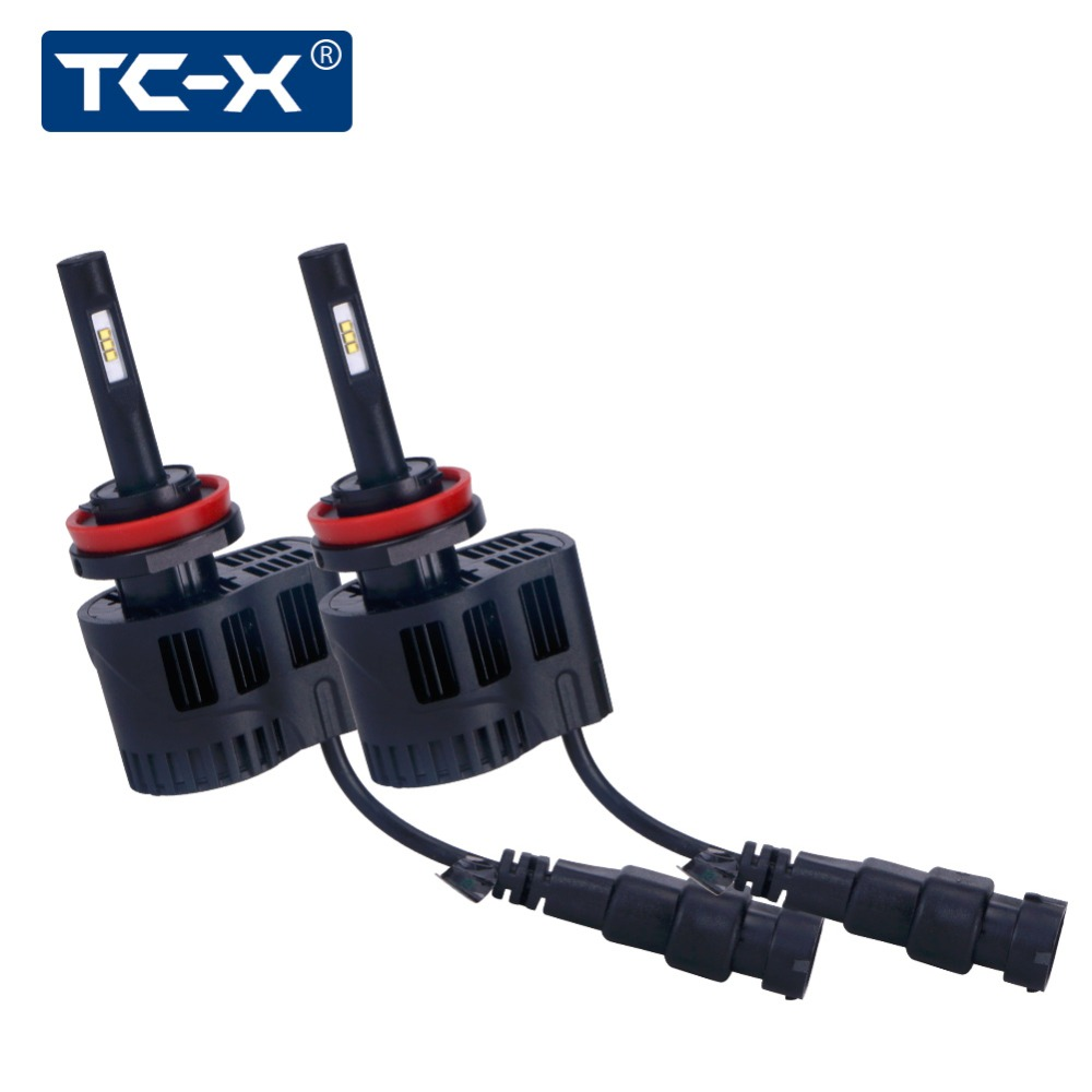 TC-X  LED Car Headlights Kit H11 luxeon z es Fanless 6000K 5000K 3000K 9006 880 Adjustable Beam Angle Auto Lamp Fog Light Bulbs