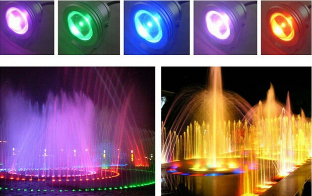 10W RGB LED Underwater Light Waterproof IP68 Fountain Swimming Pool Lamp 16 Colorful Change With 24Key IR Remote LemonBest