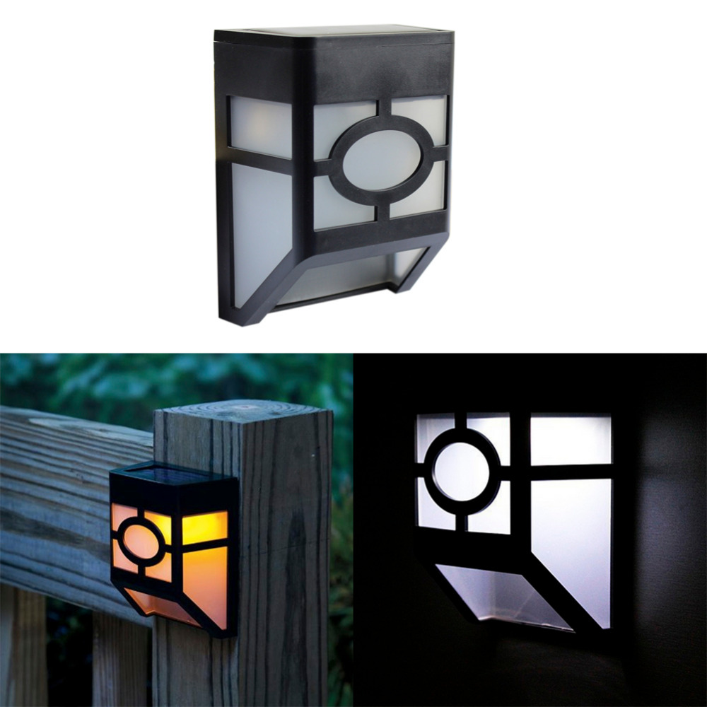 GoesWell USA Stock LED Solar Garden Light Lantern White Yellow Outdoor Waterproof 2LEDs Yard Wall Night Lowest Lighting Lamp