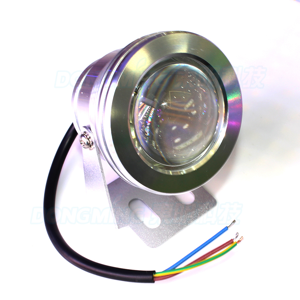 Convex Lens  LED Underwater Light Warm White/White Swimming Pool lights 10W DC 12V IP68 waterproof fountain pond lighting