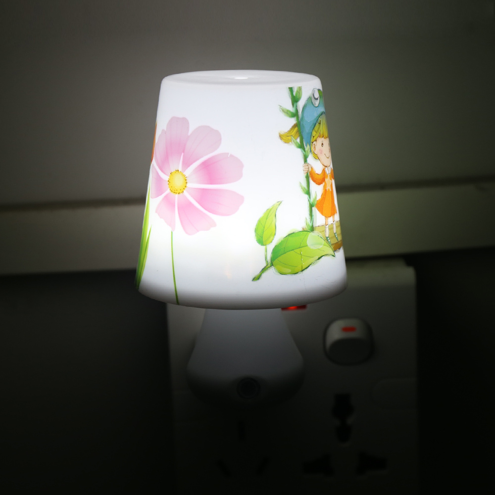 Soft Light Led Night Light 0.5W AC220V Night Lights with a Remote Control Dimmer for Children Cartoon Night Lamp Bedroom