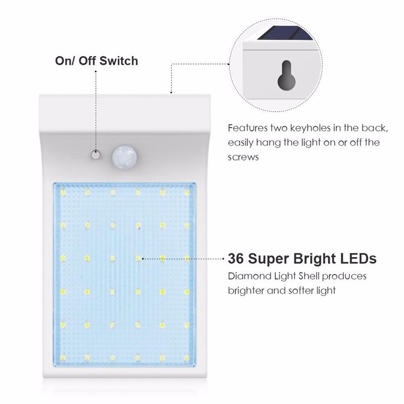 36 LED Solar Power Street Light (5)