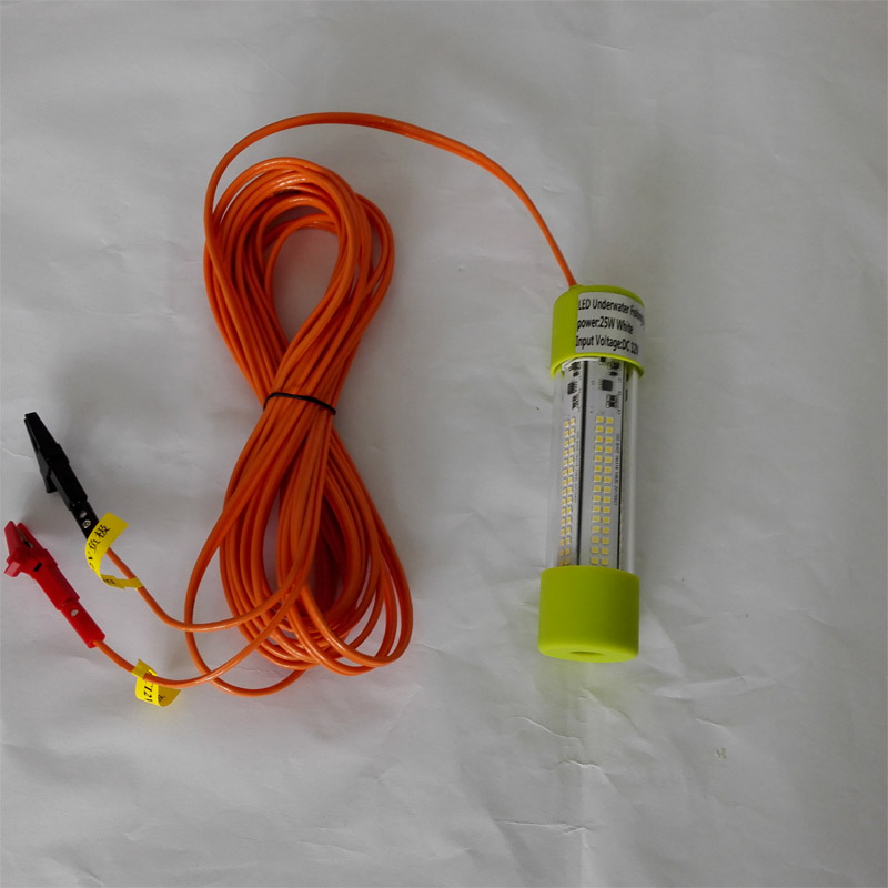 12V LED Green Underwater Fishing Light Lamp 25W Fishing Boat Light Night Fishing Lure Lights for Attcating Fish