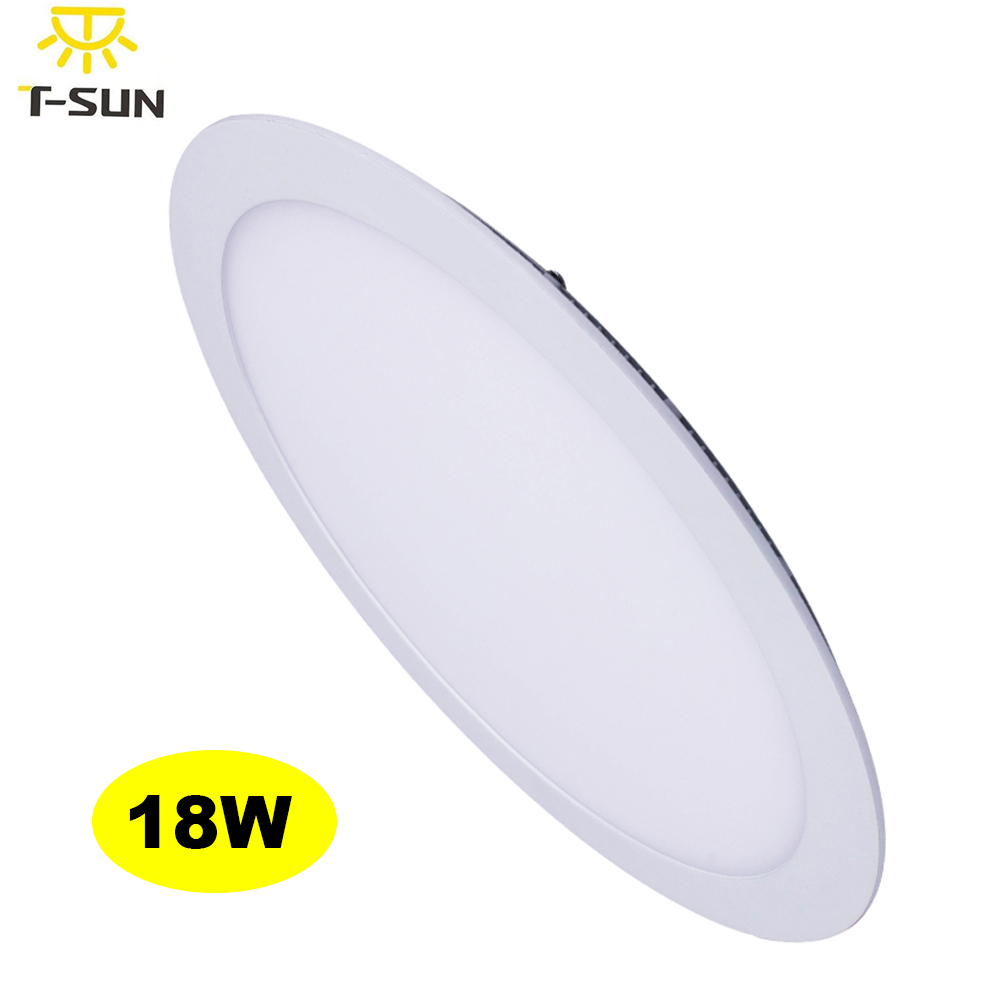 T-SUNRISE 18W Flat Panel Led Panel Light Recessed Ceiling Lamp for Bathroom Bedroom Slim LED Lights AC100-270V SMD2835