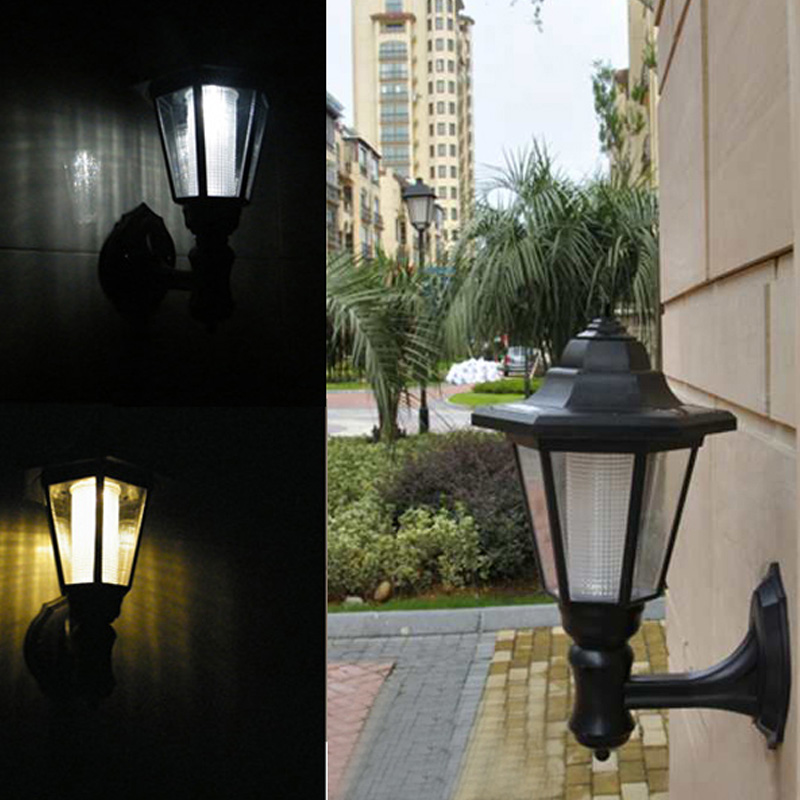 Hot Sale New 2Pcs Outdoor Solar Garden LED Lamp Green Power Building Wall Path Hanging Lights