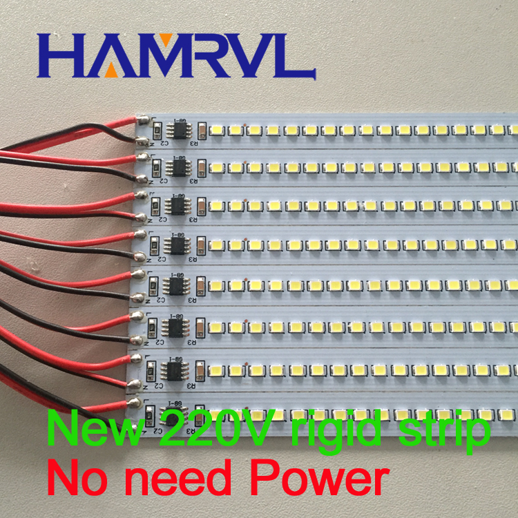 30pcs 110V aluminium led strip 2835 1m rigid strip LED Bar Light ...