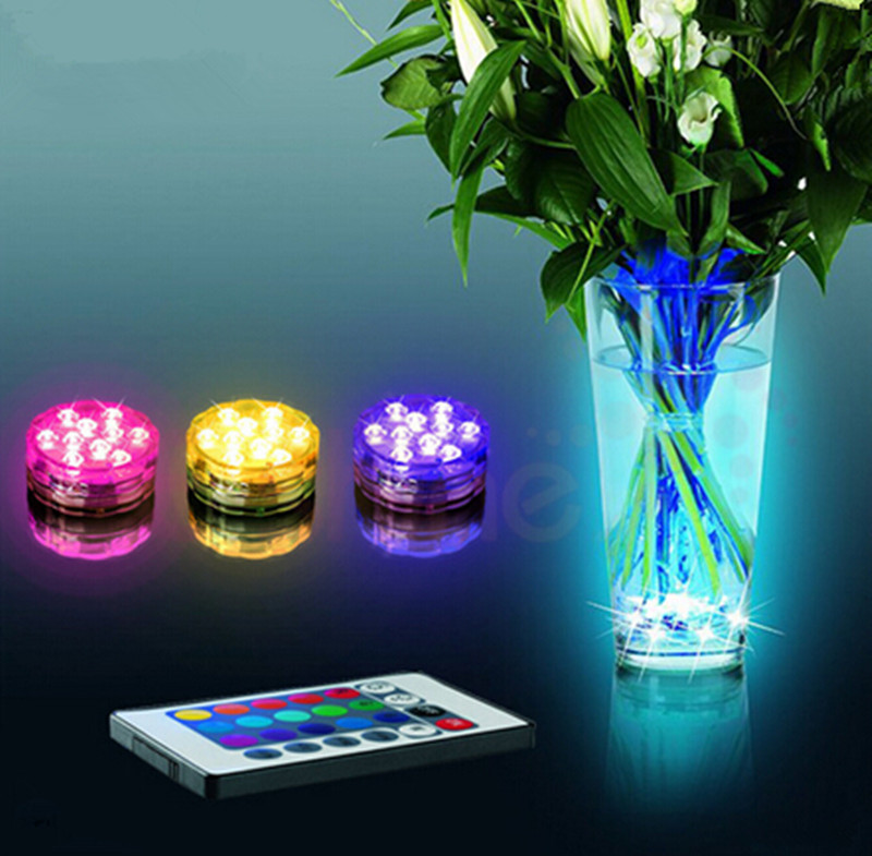 new led diving Knob lights aquarium Fish tank Underwater waterproof Colorful Highlight remote control Creative Diving lights led