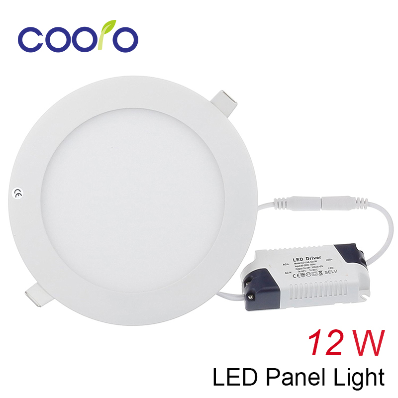 AC100-265V 12W LED panel light Open hole diameter 150mm LED ceiling light Round LED down light