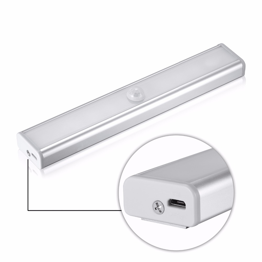 1PC Motion Sensor Night Light Potable LED Closet Lights Wall Lamp Battery Powered Wireless Cabinet Leds Lamp With Magnetic Strip