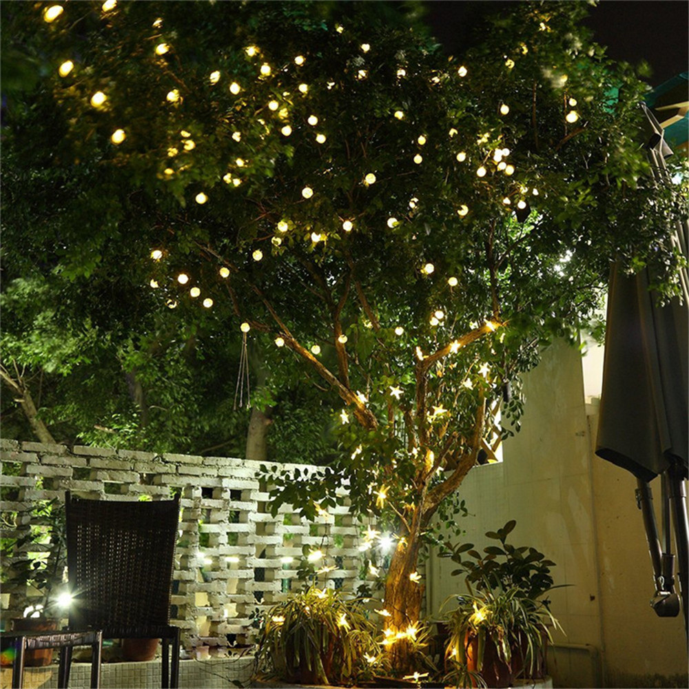 Hot 6M 30LEDs Solar String Lights Waterproof Christmas Holiday Lighting Outdoor Garden Decoration Crystal Ball Fairy Lamps