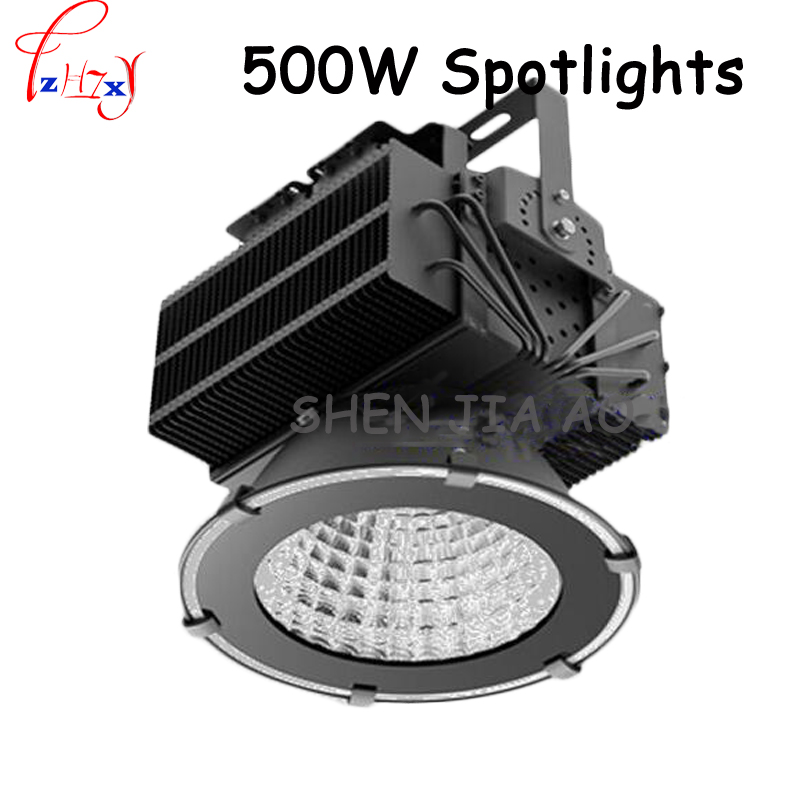 500W LED flood light factory floor lighting tower chandelier 100Lm / W LED mining lamp projection lamp 1pc
