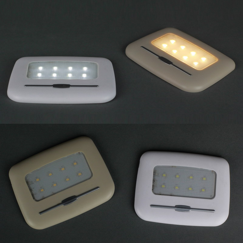 2017 New Magnetic LED Wireless Night light 8 LEDs USB Reading Lamp Car light Touch Sensor LED Ceiling Roof Light For Home Closet