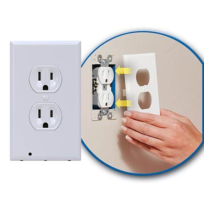 Plug Cover Light Sensor For Hallway Bedroom Bathroom LED Night Light Cover Plate Safty Wall Outlet Face Lamp A