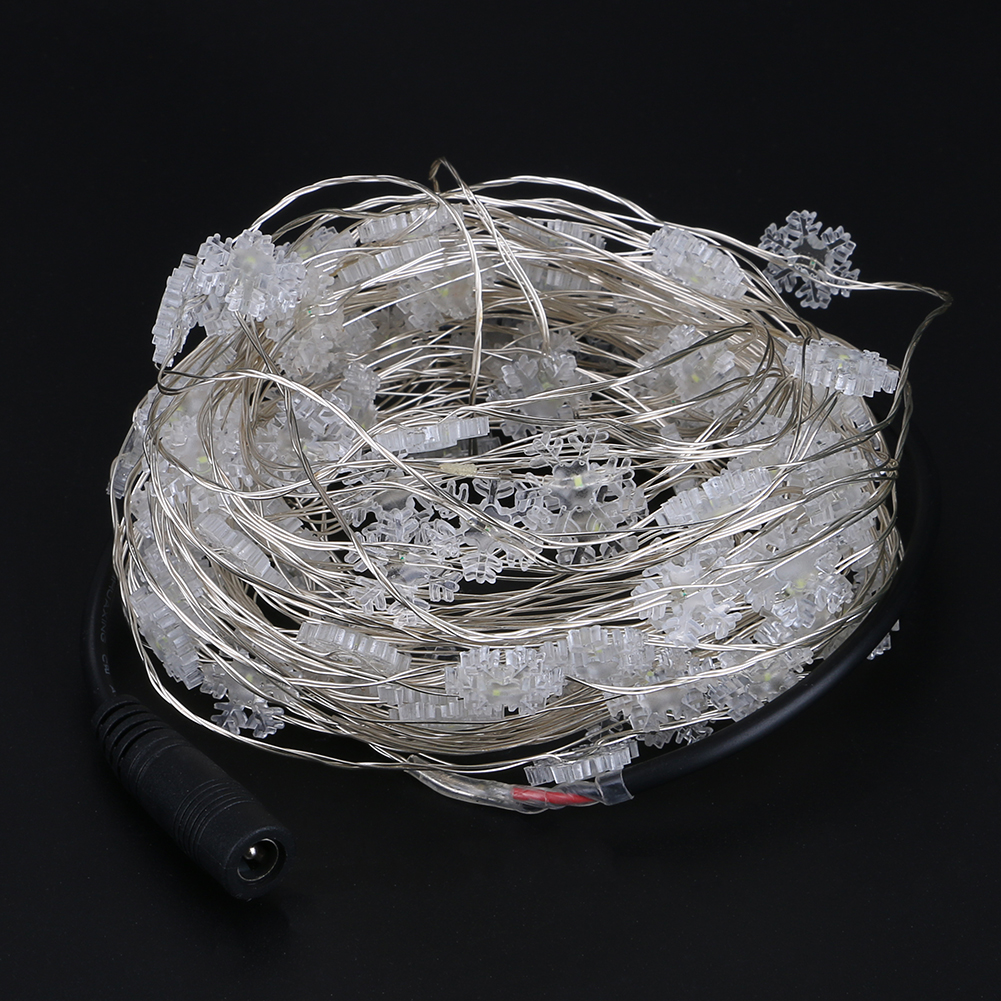 led string lights 10M 100led snowflake outdoor DC12V christmas festival wedding party decoration fairy string light