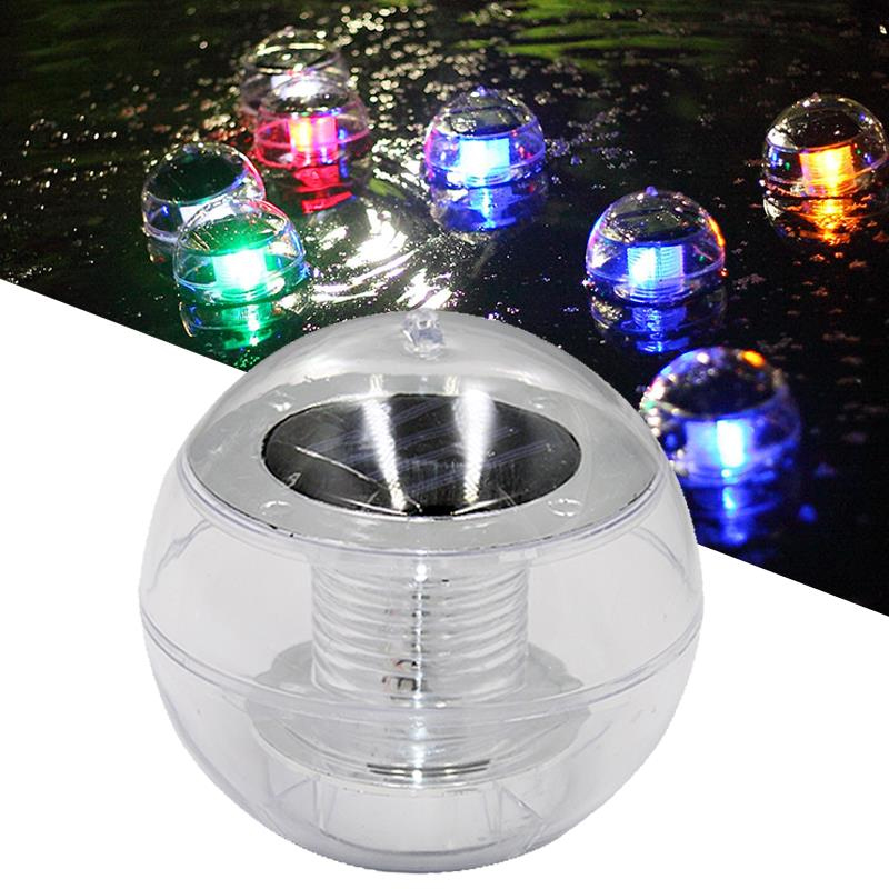 Solar LED Energy Saving Lamp Pool Automatic Floating Light Colorful Gradient