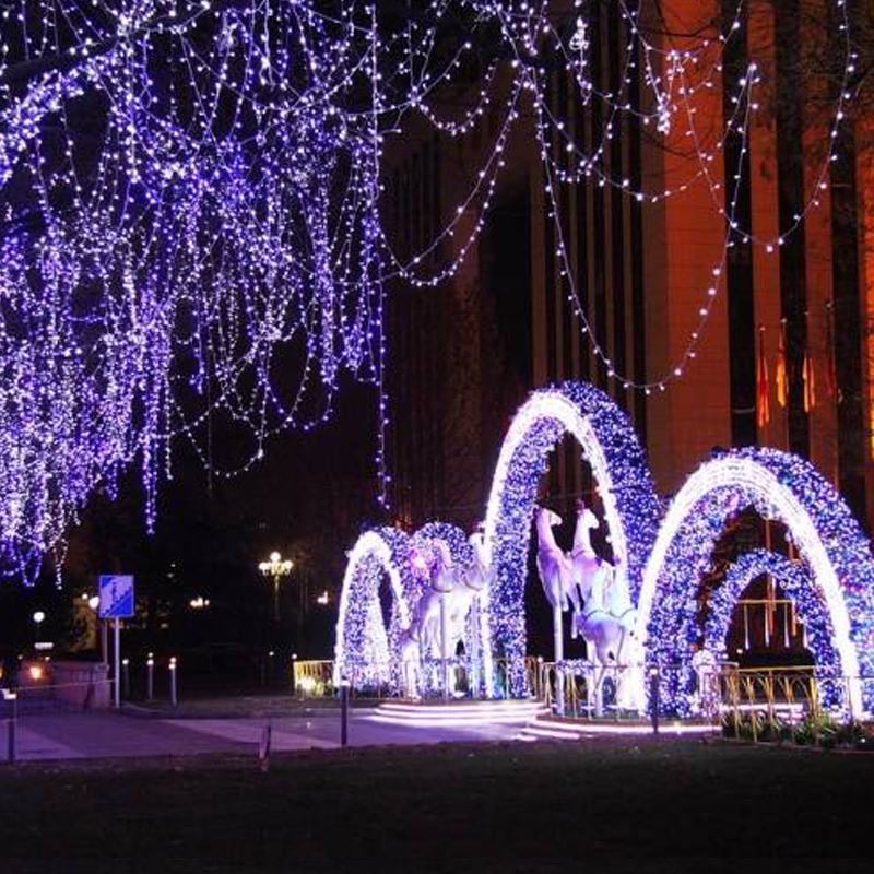 Christmas Garland LED Curtain Icicle String Light 4.5m 100Leds Indoor Drop LED Party Garden Outdoor Decorative Light