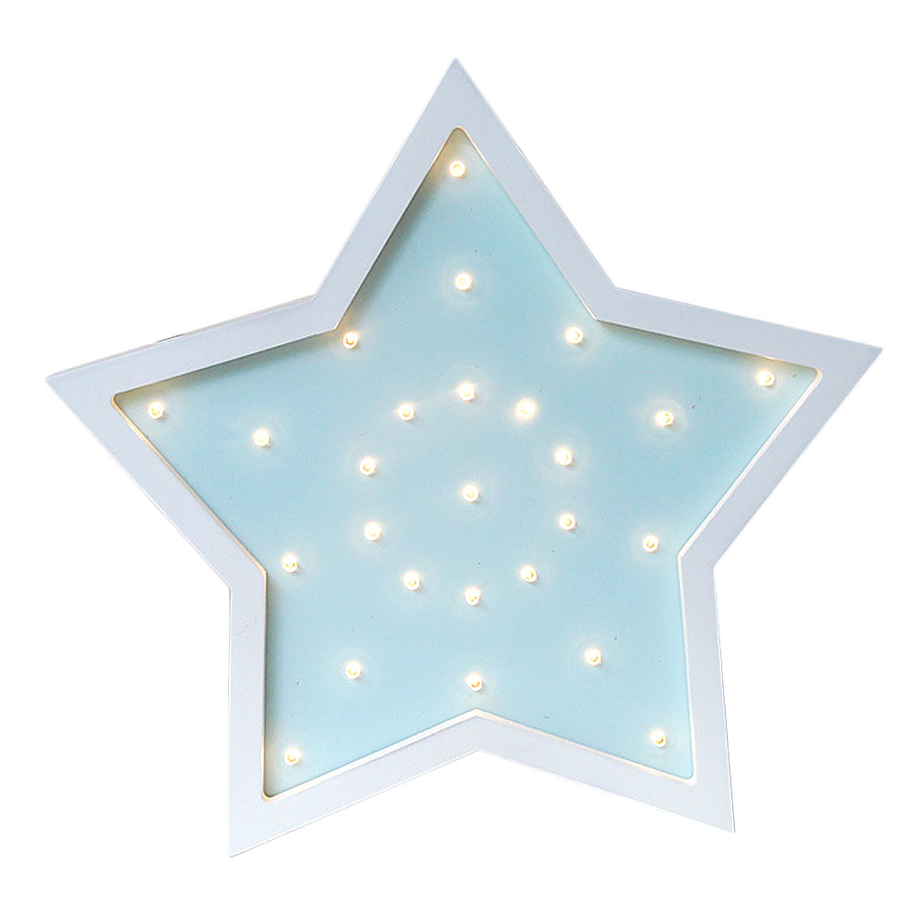 Mabor Night Light LED Cartoon Five Pointed Star Night Wall Lamp Modeling Light Home Decorative