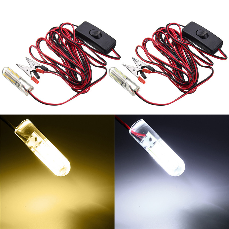 Cool/Warm White LED Bulb Light 3014 96 smd LED Underwater Light LED Fishing Light Night Boat Attracts Fish DC12V 12W