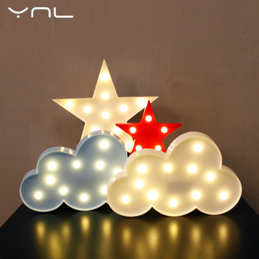 Christmas decor 3D LED Night Light tree Flamingo Cactus Angel Star Cloud Love Unicorn Fairy Table Lamp Children Night Light lamp