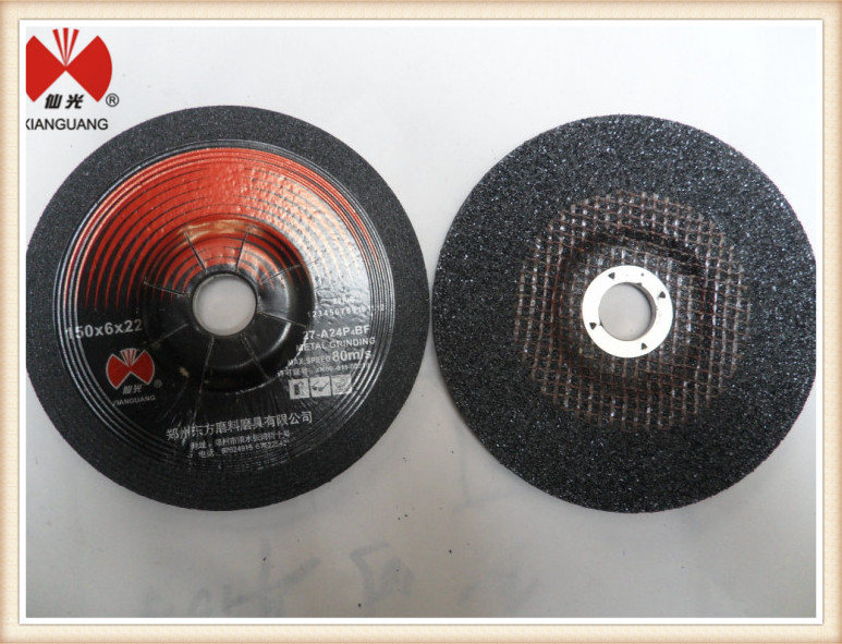 6inch (150x6x22mm) Depressed Center Grinding Disc For SS/Metal