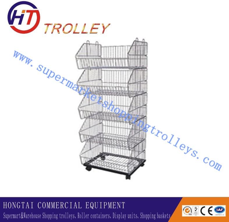 Sloped Wire Basket/Stacking Wire Basket/Multilayer Wire Basket