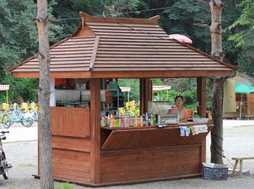 Unique Design Juice Kiosk With Wooden Coffee Kiosk Design – Fondos